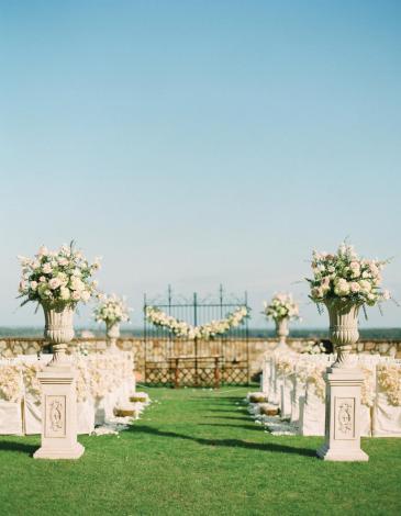 A decoração e disposição da cerimônia
