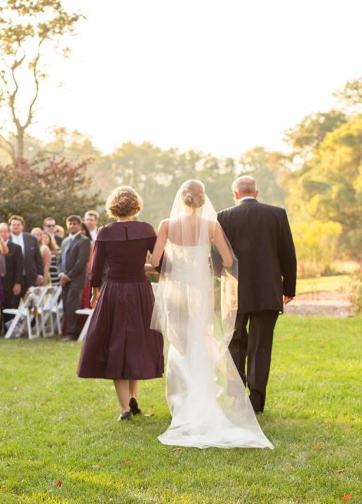 A entrada da noiva em movimento