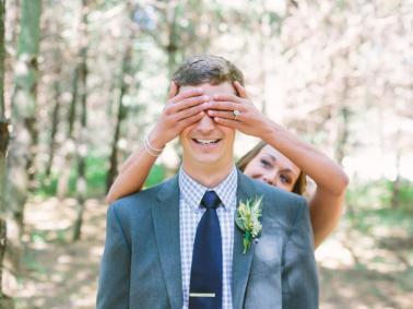 A reação do noivo ao ver a noiva pela 1a vez