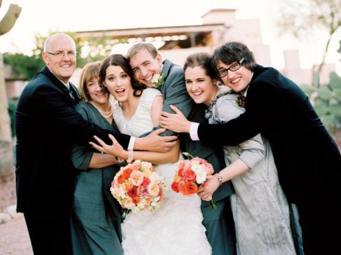 Uma foto espontânea e divertida da família