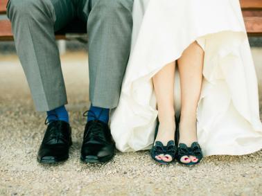 Os sapatos dos noivos